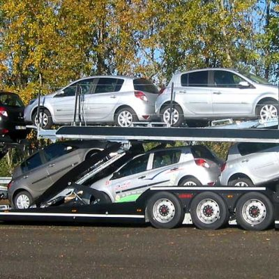 Lohr car-carriers, from the 3 axles range of vehicles: Eurolohr 300, loaded with 10 city cars.
