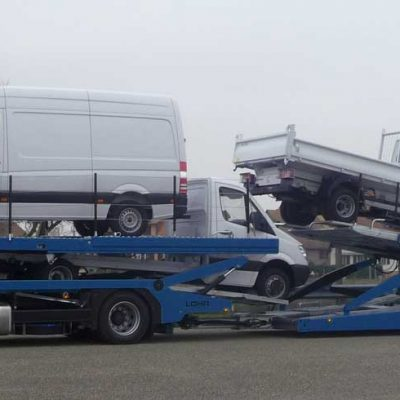 Multilohr, Lohr car-carrier loaded with 4 mixed vans.