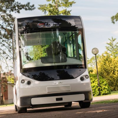 The first Cristal by Lohr electric and modular shuttle.