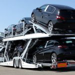 Car-carrier Lohr, Eurolohr 2.53 WXS New loaded with 10 city cars.