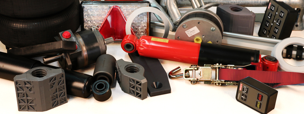 Different spare parts wich are sales by Lohr.