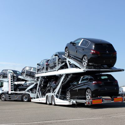 Eurolohr 2.53 WXS New, Lohr car-carrier loaded with 10 city cars.