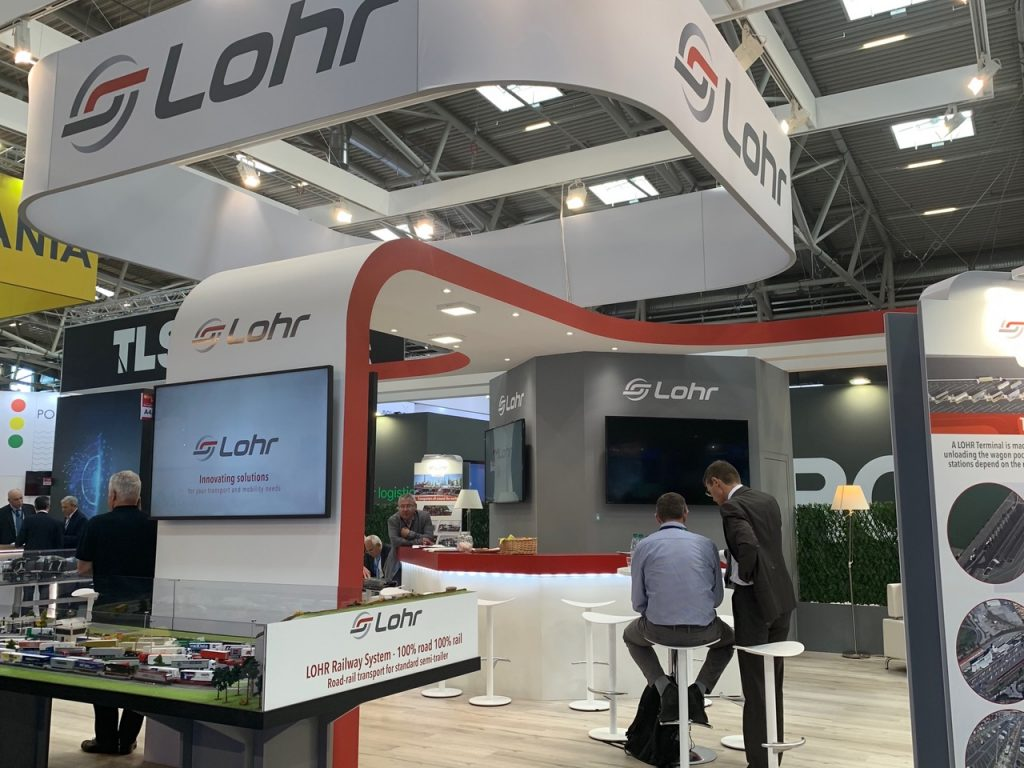 Lohr booth in the exhibition: Transport Logistic in Munich in june 2019.