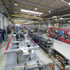 Lohr production line, in the main industrial site in Duppigheim, France.